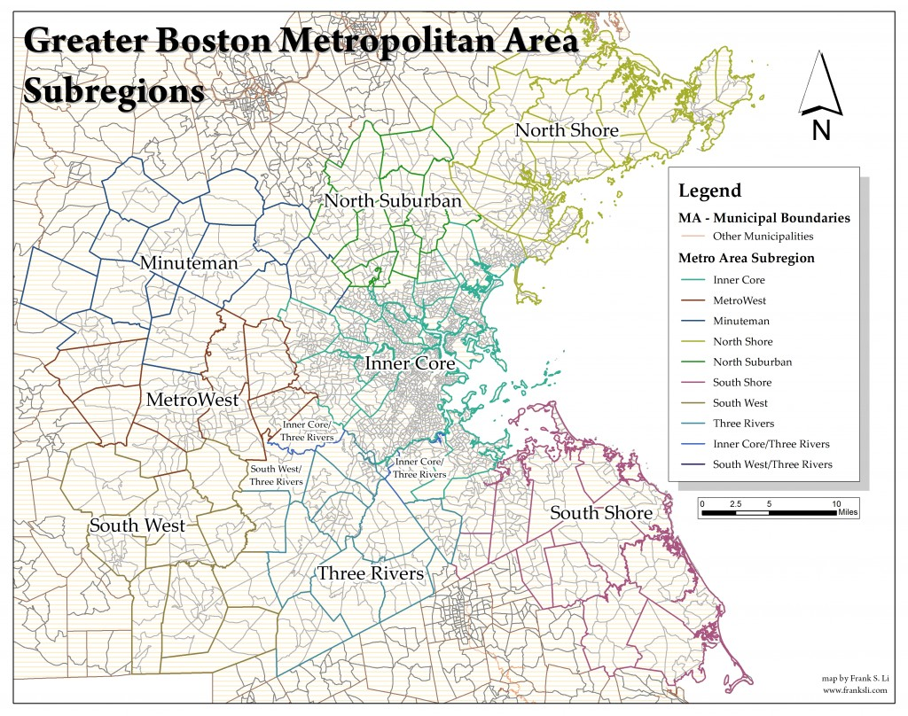 Greater Boston - Subregions